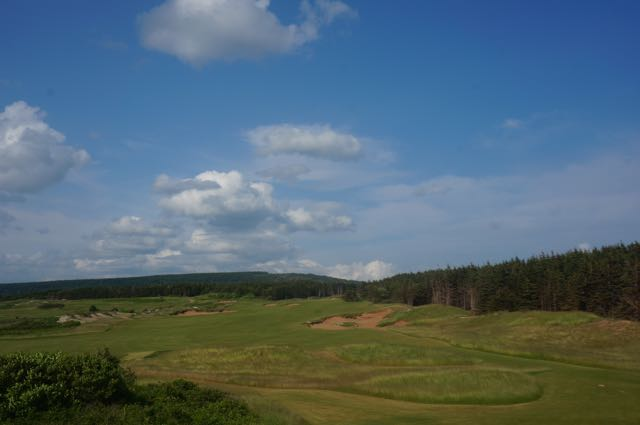 The holes away from the water are equally as strong as those on the ocean at Cabot Cliffs.